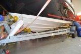 Aplikace ochranné transparentní folie na spodní část lodi pod vodorysku