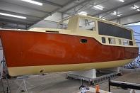 Celopolep lodě od bordlajsny po vodorysku červená perleťová metalická folie 3M + ochranná transparentní folie